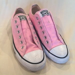 Sz 8 Converse Pretty in Pink low tops